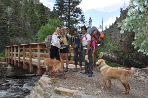 2 families, 2 tots, 2 dogs at 10,000'!