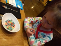 """Mom, I'll eat the colored cereal!"" First time for Fruit Loops!"