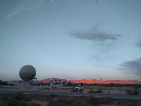 Sunset, headed home somewhere in the Mojave desert.